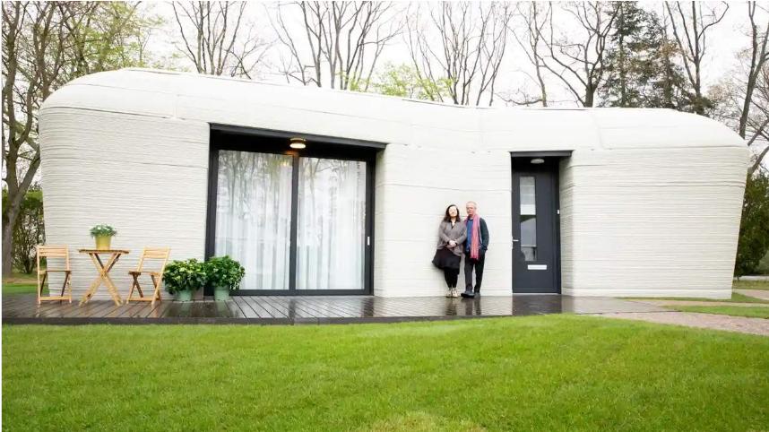 Pasted into Una pareja se ha mudado a la primera casa de Europa totalmente impresa en 3D - Una pareja se ha mudado a la primera casa de Europa totalmente impresa en 3D