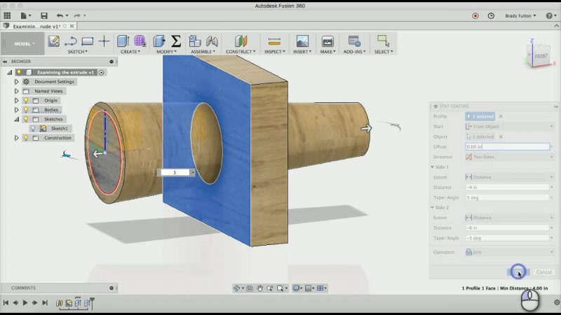 extruding your shape - 2021 AutoDesk impresión 3D – Tutorial paso a paso para principiantes
