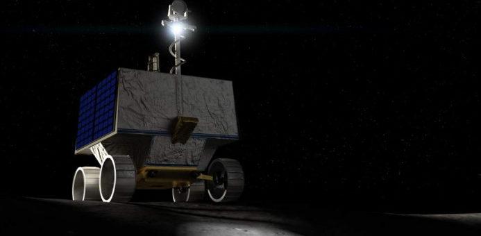 robot móvil de la NASA en la luna