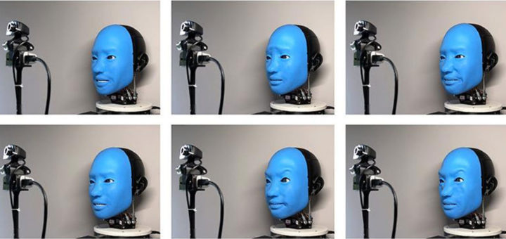robot que sonrie 720x340 - Ingenieros utilizan la IA para crear un robot que nos devuelva la sonrisa