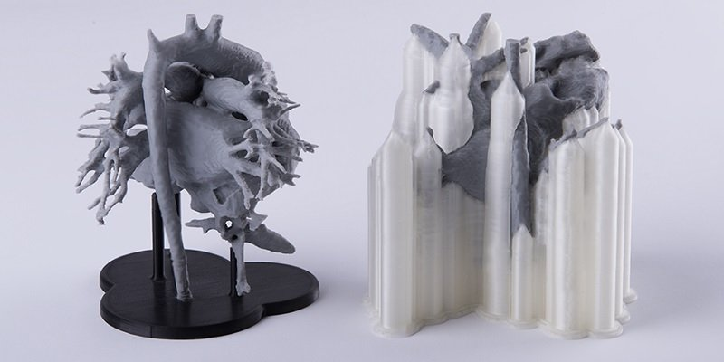 two 3d printed hearts one with pva support materi - Filamento PVA: La guía completa de este filamento para impresión 3D