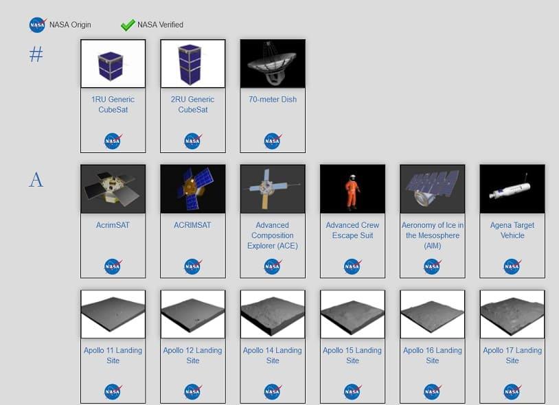 modelos impresion 3d de la NASA imagen - Imprime en 3D naves espaciales y asteroides con estos modelos de la NASA