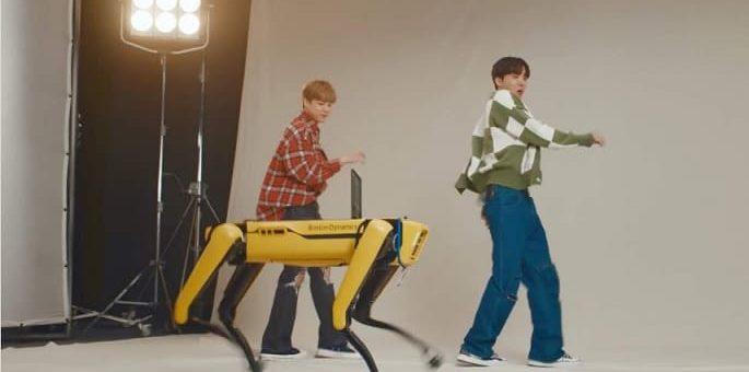robots bailando BTS