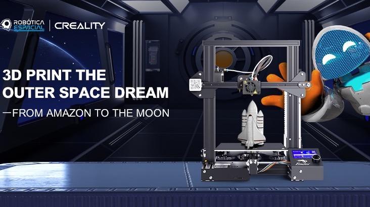 a graphic promoting crealitys involvement in the - Robótica e Impresión permiten a alumnos brasileños llegar al espacio