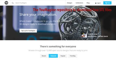 interfaz de usuario grafica sitio web descripcio 1 - Los mejores sitios para descargar archivos STL y modelos 3D gratis para impresión 3D